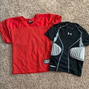 Youth football shirts
